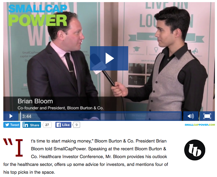 Brian Bloom Reveals His Top Healthcare Stock Picks
